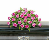Pink Rose Casket Spray in Fort Worth TX, Greenwood Florist & Gifts