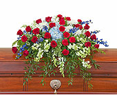Honor Casket Spray in Bradenton FL, Florist of Lakewood Ranch