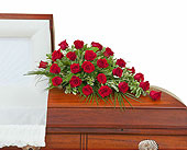 Simply Roses Standard Casket Spray in Fort Worth TX, Greenwood Florist & Gifts
