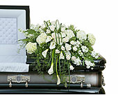 Elegant Love Casket Spray in Somerset, Massachusetts, Pomfret Florists