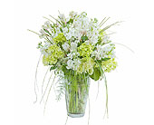 White Elegance Vase in Timmins ON, Heartfelt Sympathy Flowers
