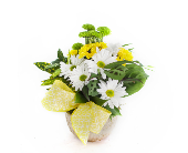 Dish Garden w/Flowers *YELLOW/WHITE*  in Nashville TN, Emma's Flowers & Gifts, Inc.