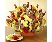 Abundant Fruit and Chocolate Tray in Mount Morris MI, June's Floral Company & Fruit Bouquets