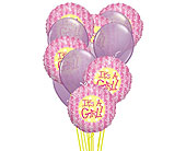 It's a Girl Mylar Balloon Bouquet in Smyrna GA, Floral Creations Florist