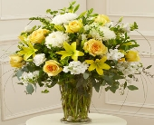 Beautiful Blessings Yellow Vase Arrangement in Silver Spring MD, Colesville Floral Design