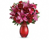 Teleflora's Crimson Kisses Bouquet in Vancouver BC, Downtown Florist