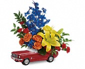 Living The Dream '65 Ford Mustang by Teleflora in Darlington WI, A Vintage Market Floral