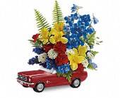 Teleflora's '65 Ford Mustang Bouquet in Moundsville WV, Peggy's Flower Shop