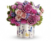 Teleflora's Field Of Butterflies Bouquet in New Britain CT, Weber's Nursery & Florist, Inc.