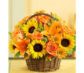 Fields of Europe Fall Basket in Largo FL, Rose Garden Florist