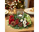 Very Merry Modern Centerpiece in Smyrna GA, Floral Creations Florist