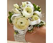 White Wedding Corsage in Mississauga, Ontario, Flowers By Uniquely Yours