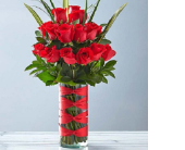 Two Dozen Premium Long-Stem Red Roses in San Jose CA, Rosies & Posies Downtown