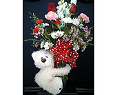 Cuddle Bear Bouquet in Norwich NY, Pires Flower Basket, Inc.