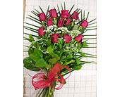 One Dozen Tied Red Roses in Maple ON, Jennifer's Flowers & Gifts