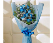 Dozen Blue Roses in Brampton ON, Flower Delight