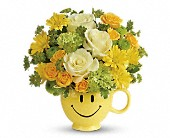 Teleflora's You Make Me Smile Bouquet in Burnaby BC, Lotus Flower & Terra Plants