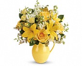 Teleflora's Sunny Outlook Bouquet in Darlington WI, A Vintage Market Floral
