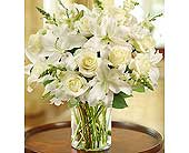 Classic All-White Arrangement in Hillsboro OR, Marilyn's Flowers