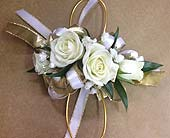 Gold and White Corsage in Smyrna GA, Floral Creations Florist