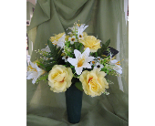 Silk Memorial Arrangement in Amherstburg, Ontario, Flowers By Anna