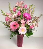 PERFECTLY PLEASING PINKS by Rubrums in Ossining NY, Rubrums Florist Ltd.