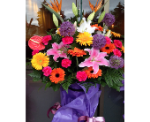 Flowers on a Stand for Ceremony in Burnaby, British Columbia, Lotus Flower & Terra Plants
