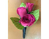 Hot pink Boutonniere in Palm Beach Gardens FL, Floral Gardens & Gifts