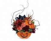 Teleflora's Halloween Magic Bouquet in Pella IA, Thistles