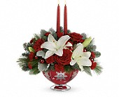 Teleflora's Merry Memories Centerpiece in Prior Lake & Minneapolis MN, Stems and Vines of Prior Lake