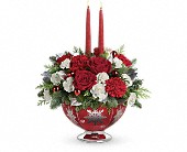 Teleflora's Silver And Joy Centerpiece in Oakland CA, Lee's Discount Florist