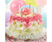 Birthday Flower Cake in Aston PA, Wise Originals Florists & Gifts