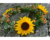 Sunflower Wreath in Indianapolis IN, Gillespie Florists