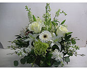 All White Arrangement in Cube in Blue Bell PA, Country Flower Shoppe
