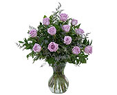 Lovely Lavender Roses in Timmins ON, Heartfelt Sympathy Flowers