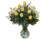 Yellow Rose Beauty in Timmins ON, Heartfelt Sympathy Flowers