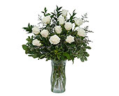 White Rose Elegance in Latham NY, Fletcher Flowers