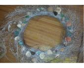 Sea shell and sea glass wreath in Carlsbad CA, El Camino Florist & Gifts