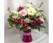 Pink & White Dots in Smyrna GA, Floral Creations Florist