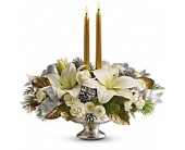 Silver And Gold Centerpiece in Smyrna GA, Floral Creations Florist