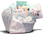 Welcome Baby Wicker Bassinet