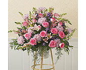 Hearts & Flowers!TM Pink Standing Basket
