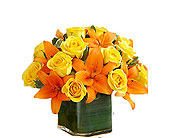 Fall Rose and Lily Bouquet (L)