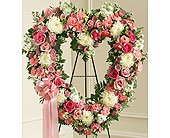 Always Remember Floral Heart Tribute Pink