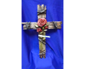 Large Rose Cross in Bridge City TX, Wayside Florist