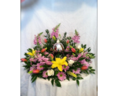spring urn Wreath in New Iberia, Louisiana, Breaux's Flowers & Video Productions, Inc.