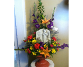 Plaque Pedestal Arrangement in New Iberia, Louisiana, Breaux's Flowers & Video Productions, Inc.