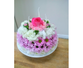 Flower Cake in Mississauga ON, Flowers By Uniquely Yours