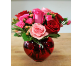 Rose Vase Arrangment in Mississauga ON, Flowers By Uniquely Yours