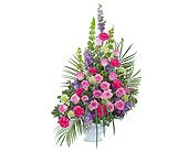 Forever Cherished Crescent Spray in Bradenton FL, Florist of Lakewood Ranch